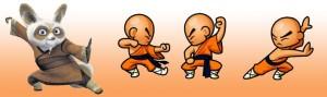Aula infantil de Kung Fu