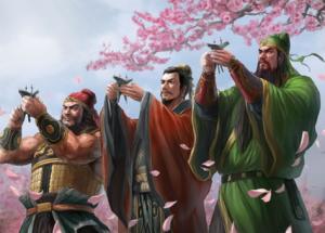 Zhang Fei, Liu Bei e Guan Gong