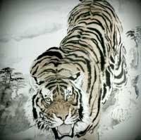 Tigre em sumie